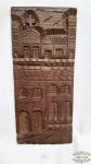 Talha em Madeira Esculpida Casario Antigo. Medida: 41,5 largura x 18,5 Comprimento x 2 Profundidade