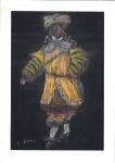 Santa Rosa (Tomás Santa Rosa Junior) (João Pessoa/PB, 1909 - India, 1956). CROQUI PARA PEÇA DE TEATRO. Sem data. Pastel seco sobre papel. 25 x 17 cm. Assinado Santa Rosa (cie). Sem moldura.