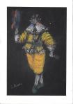 Santa Rosa (Tomás Santa Rosa Junior) (João Pessoa/PB, 1909 - India, 1956). CROQUI PARA PEÇA DE TEATRO. Pastel seco sobre papel. 25 x17 cm. Assinado S. Rosa (cie). Sem moldura.
