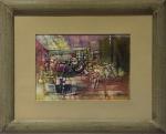 Benjamin Silva (Juazeiro/CE, 1927). ABSTRATO. Sem data. Óleo sobre cartão. 22 x 30 cm. Monograma BS (cid).