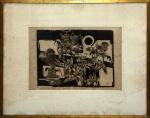 Roberto Magalhães (Rio de Janeiro/RJ, 1940). EXTERMÍNIO DAS MALDADES. 1963. Xilogravura 1/20. 25 x 36 cm. Assinado Roberto Magalhães / 1963 (cid). Titulado no centro. Trabalho do início da carreira desse grande artista brasileiro.