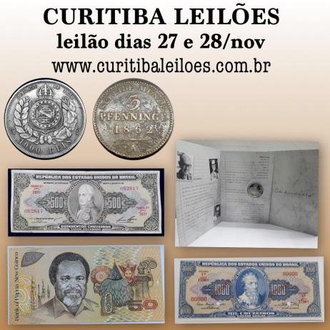 LEILÃO DE NUMISMATICA DEDICADO WALTER MEDEIROS LIMA