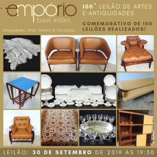 100º Leilão de Artes & Antiguidades - Especial Comemorativo de 100 Leilões Realizados!!!!!