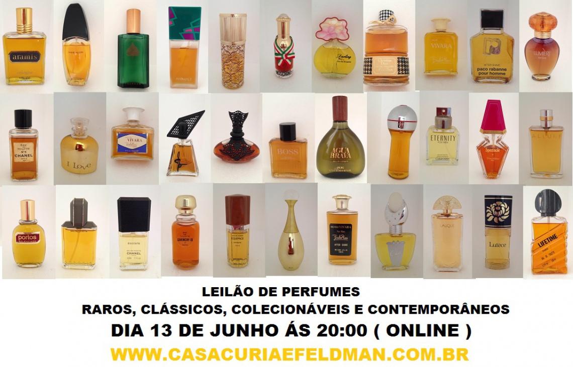 LEILÃO DE PERFUMES, RAROS, CLÁSSICOS, VINTAGE, E ATUAIS