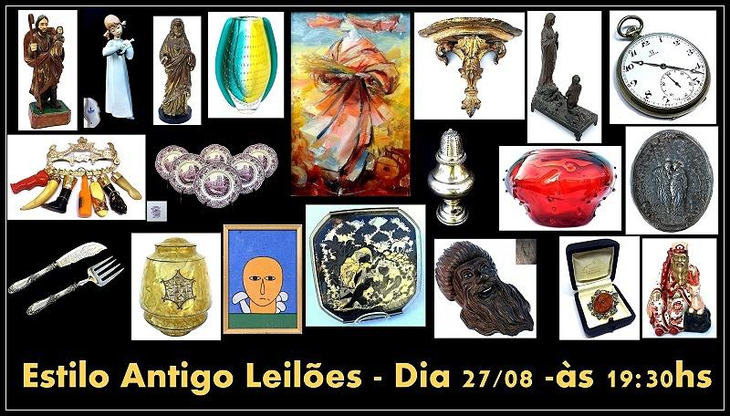LEILÃO DE ARTE,ANTIGUIDADES,COLECIONISMO, JOIAS E DECORAÇÃO