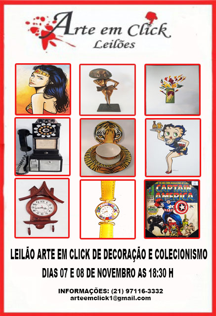 LEILÃO ARTE EM CLICK DE DECORAÇÃO E COLECIONISMO