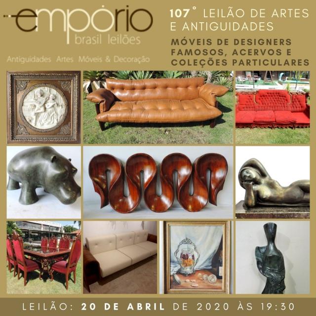 107º Leilão de Artes & Antiguidades - Móveis de Designers Famosos, Acervos e Coleções Particulares!