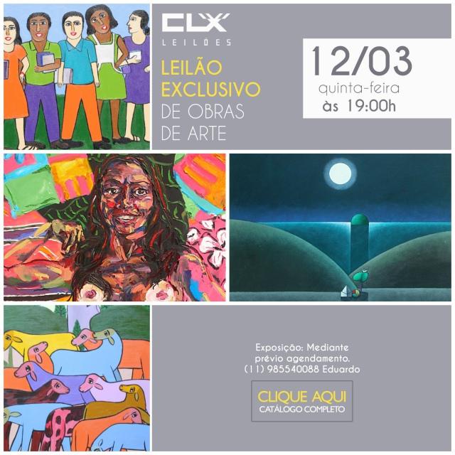 4 Grande Leilão de Arte - CLX Leilões - 12 de Março as 19:00
