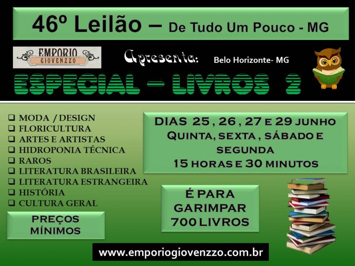 46º LEILÃO DE TUDO UM POUCO - MG -  ESPECIAL - LIVROS 2