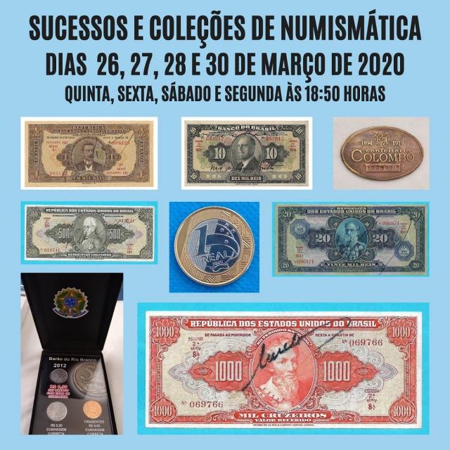 LEILÃO SUCESSOS E COLEÇÕES DE NUMISMÁTICA