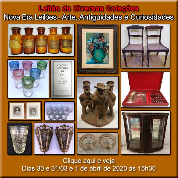 LEILÃO DE ARTE E ANTIGUIDADES - DIAS 30, 31/03 E 01/04 DE 2020 ÀS 15h30