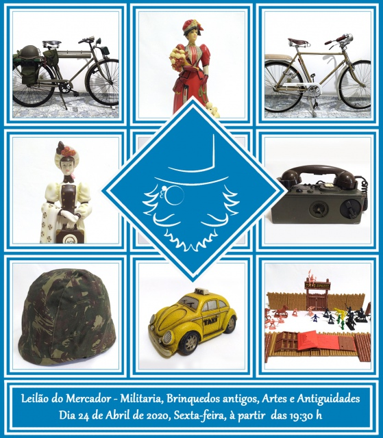 LEILÃO DE MILITARIA, BRINQUEDOS ANTIGOS, COLECIONISMO E ANTIGUIDADES