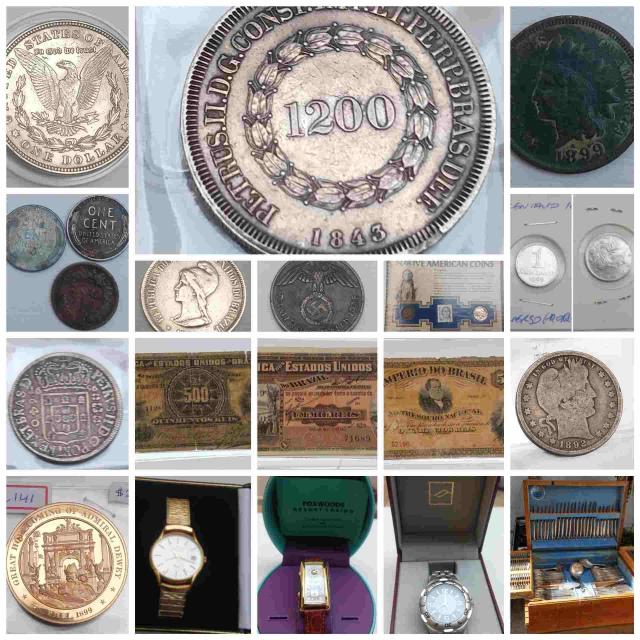 21º Leilão NUMISMART - Cédulas, Moeda, Medalhas, Token´s, relógios etc...