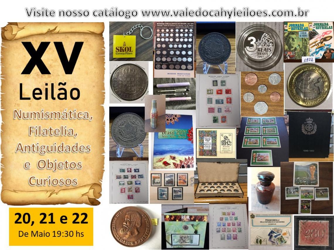 15º Leilão de Numismática, Filatelia, Antiguidades e Objetos Curiosos