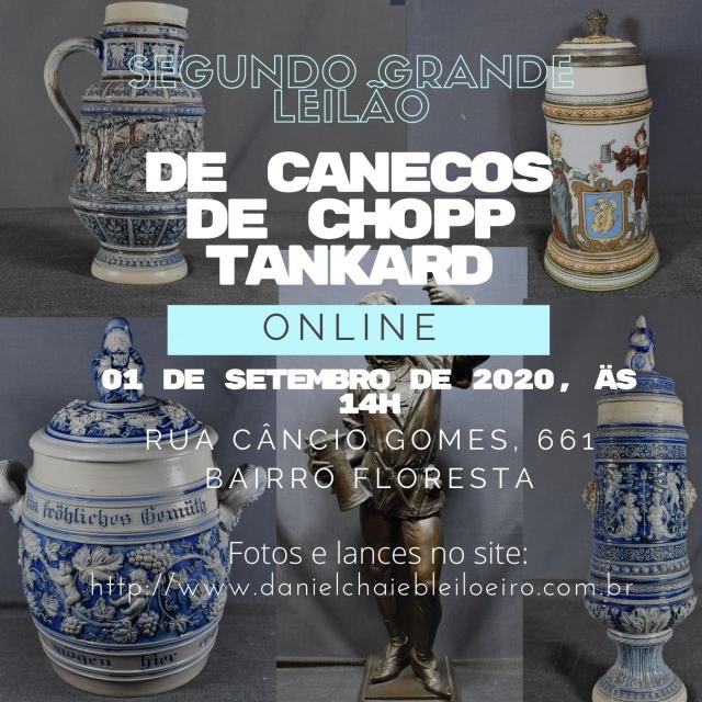 PRIMEIRO GRANDE LEILÃO DE CANECOS DE CHOPP TANKARD