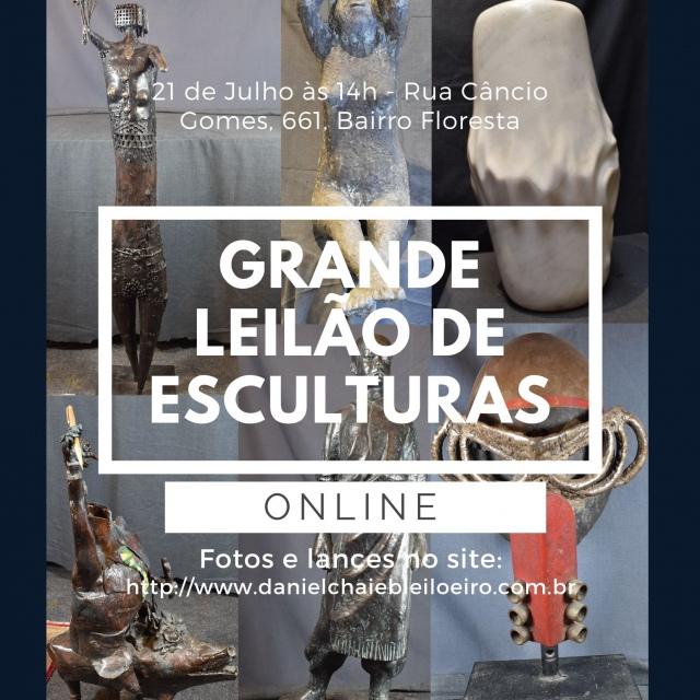 GRANDE LEILÃO DE ESCULTURAS