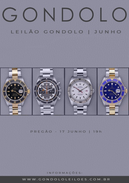 Leilão Gondolo - Relógios - Canetas - Junho 2020