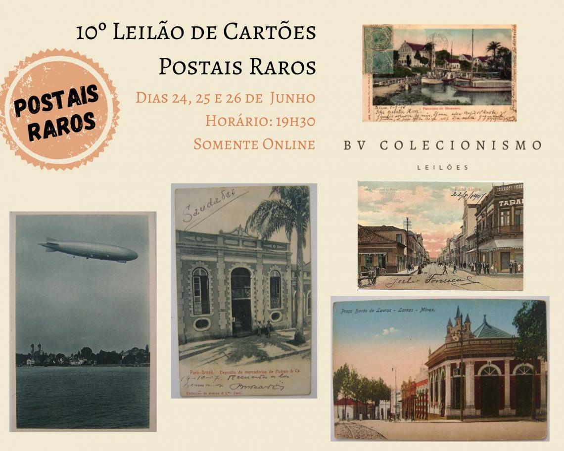 10º Leilão de Cartões Postais Raros