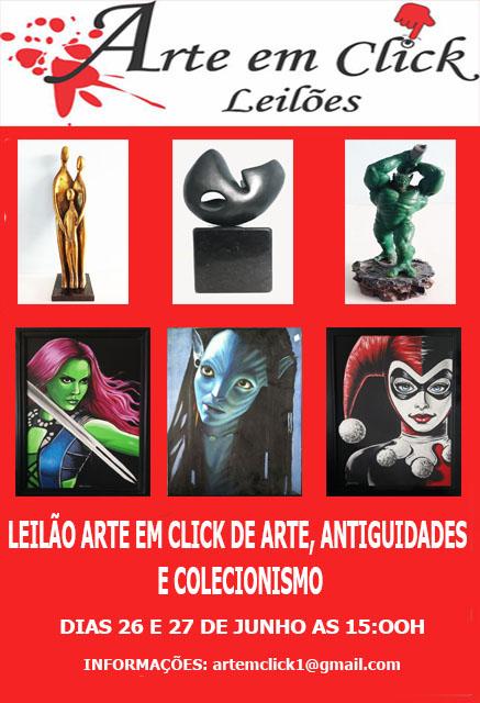 LEILÃO ARTE EM CLICK DE ARTE, ANTIGUIDADES E COLECIONISMO