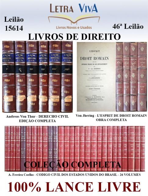 46º LEILÃO LETRA VIVA - LIVROS DE DIREITO - 100% LANCE LIVRE