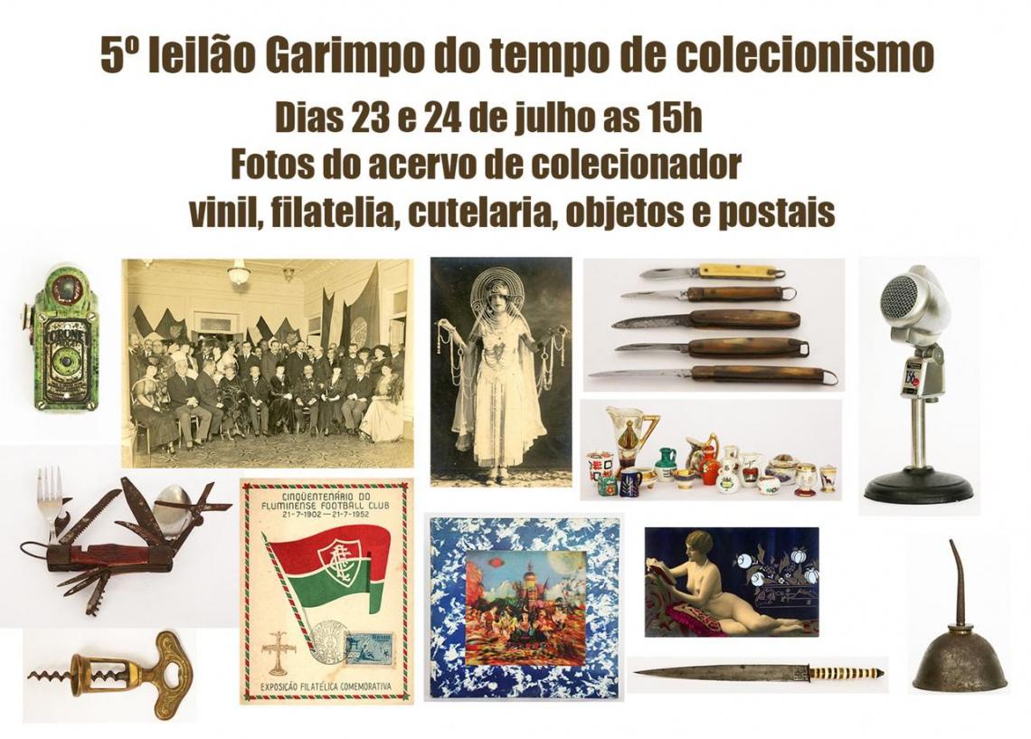 5 LEILÃO GARIMPO DO TEMPO DE COLECIONISMO