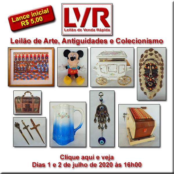 Leilão de Venda Rápida - Arte, Antiguidades e Colecionismo - 1 e 2 de julho de 2020 - 16h00
