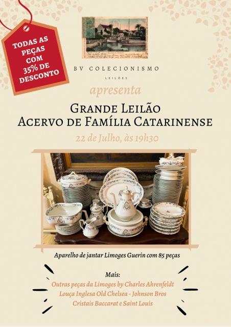 LEILÃO  DE ACERVO DE FAMÍLIA CATARINENSE