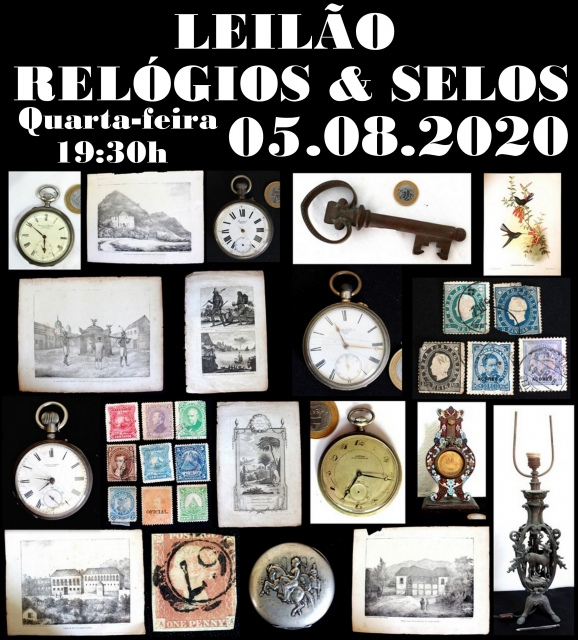LEILÃO DE RELÓGIOS & SELOS ANTIGUIDADES RJ