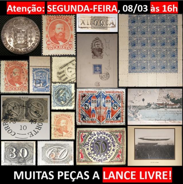 LEILÃO DE NUMISMÁTICA, FILATELIA, CARTOFILIA E CURIOSIDADES DO EMPÓRIO DAS ARTES